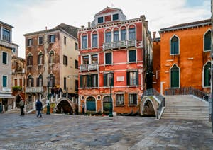 The Manin's Square in Saint-Mark District in Venice on the 23rd of December in the afternoon.