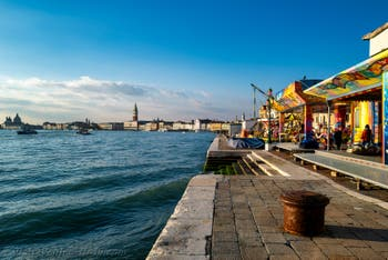 Sun, colours and roundabouts at Saint-Mark in Venice on December 28, 2019
