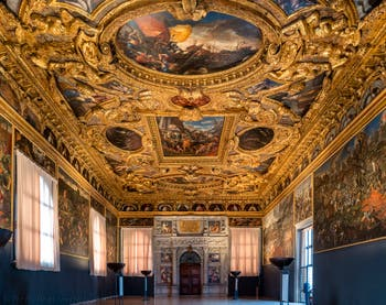 The Chamber of the Scrutinio for the voting procedures in the Doge's Palace in Venice.