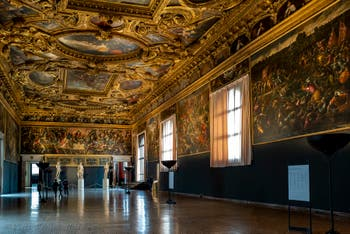The Doge's Palace Chamber of the Scrutinio in Venice.