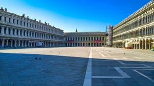 Coronavirus in Venice: Impressive silence and emptiness on Saint-Mark Square
