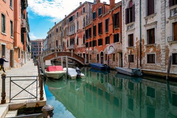 San Severo Bank and Canal, in the Castello District in Venice.