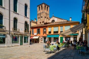 Santa Sofia Square in the Cannaregio District in Venice.