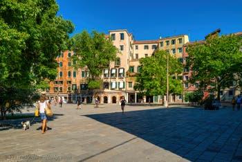 The Gheto Novo Square in the Cannaregio District in Venice.