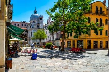 Santa Maria Nova Square and the Miracoli Church, in the Cannaregio District in Venice.