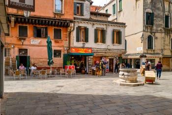Crovato San Canzian Campiello Square, in the Cannaregio District in Venice.