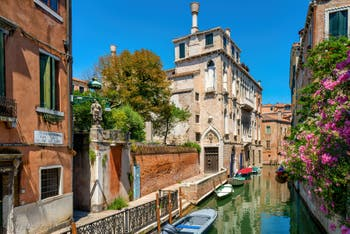 The Van Axel Palace along the Panada Canal, in the Cannaregio District in Venice.
