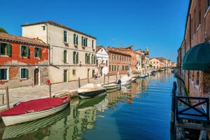 The Riformati Canal and Bank in the Cannaregio District in Venice.