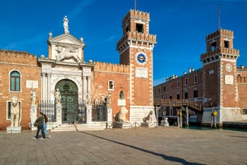 The Venice Arsenal Square and entrance in the Castello District.