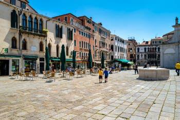 Santa Maria Formosa Square in the Castello District in Venice.