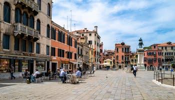 Campo San Giovanni e Paolo in the Castello District in Venice.