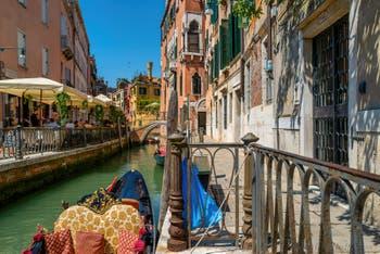 The San Provolo Canal and the Fondamentina de l'Osmarin Bank in the Castello District in Venice.