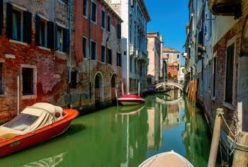 The Tetta Canal and Bridge, in the Castello District in Venice.