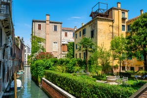 A private garden in the Saint-Mark District in Venice.