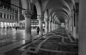 The Doge's Palace arches and the Piazzetta San Marco.