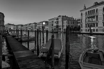 The Venice Grand Canal with the Fontana Palace on the right.