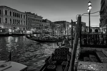 Water Bus and Gondolas on Venice Grand Canal