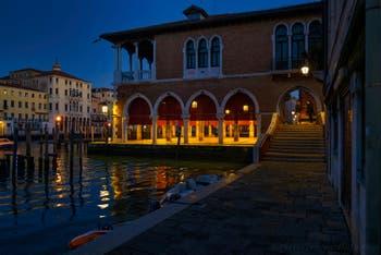 The Pescheria, the Rialto Fish Market in Venice.