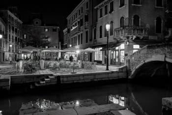 The Santa Maria Nova Square and Bridge in the Cannaregio District in Venice.
