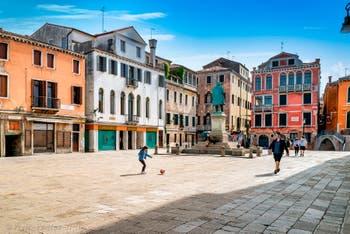 Manin Square in Saint-Mark District in Venice.