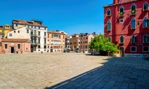 Sant' Anzolo Square, in the Saint-Mark District in Venice.