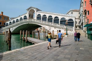The Rialto Bridge in Venice.