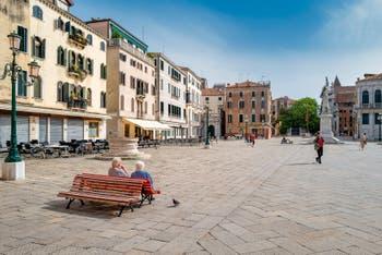 Santo Stefano Square in the Saint-Mark District in Venice.