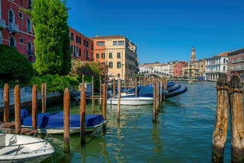 Venice Grand Canal and the Rialto Bridge seen from the San Polo District.