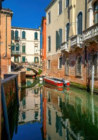 The Storto Bridge on the Sant'Aponal Canal in San Polo District in Venice