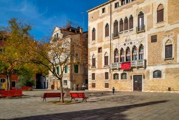 The Bandiera e Moro o de la Bragora Square, in the Castello District in Venice.