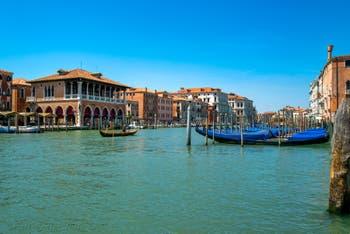Venice Grand Canal and the Rialto Market