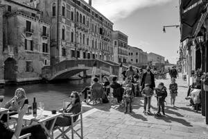 Life is back in Venice: the Ormesini Bank in Cannaregio District.
