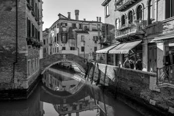 The Santa Maria Nova Bridge and the Miracoli Canal in the Cannaregio District in Venice.