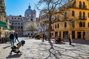 Santa Maria Nova Square and the Miracoli Church in the Cannaregio District in Venice.
