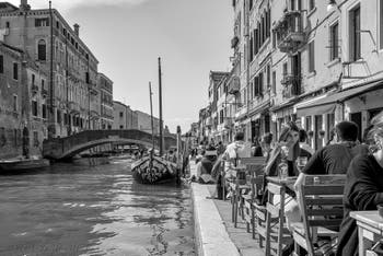 Ormesini Bank and Misericordia Canal in the Cannaregio District in Venice.