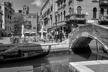 Santa Maria Nova Square and Bridge in the Cannaregio District in Venice.