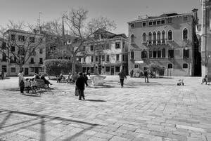 Bandiera e Moro o de la Bragora Square in the Castello District in Venice.