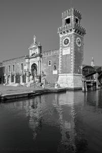 The Venice Arsenal and its Lions, in the Castello District in Venice.