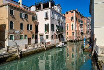 San Lorenzo Canal in the Castello District in Venice.