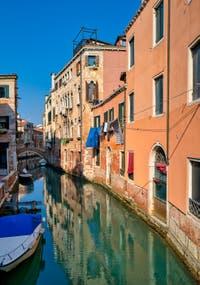 San Martin Canal in the Castello District in Venice.