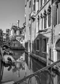 The Priuli Palace and the San Provolo Canal in the Castello District in Venice.