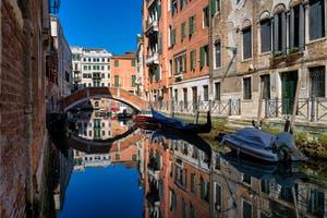 San Severo Canal and the Novo Bridge in the Castello District in Venice.