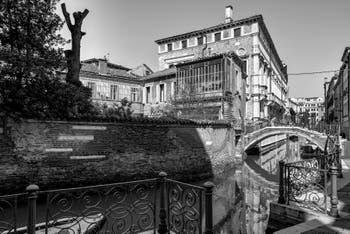 San Severo Canal and Bridge in the Castello District in Venice.