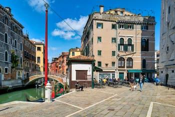 The Santa Maria Formosa Bank in the Castello District in Venice.