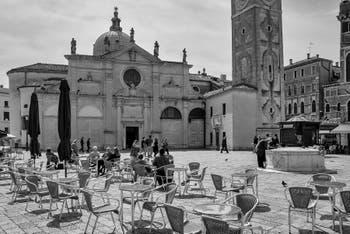 Santa Maria Formosa Square and Church in the Castello District in Venice.