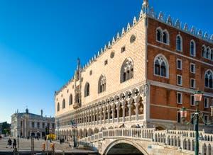 The Doge's Palace and the Paglia Bridge in Venice.