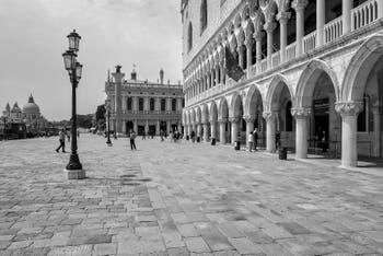 Doge's Palace in Saint Mark District in Venice.