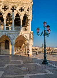 The Doges Palace and San Marco Piazzetta in Venice.