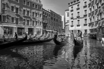 The Orseolo Bacino's Gondolas in Saint-Mark District in Venice.