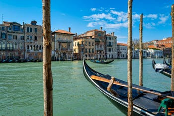 Venice Grand Canal, on the right the Peggy Guggenheim Museum.